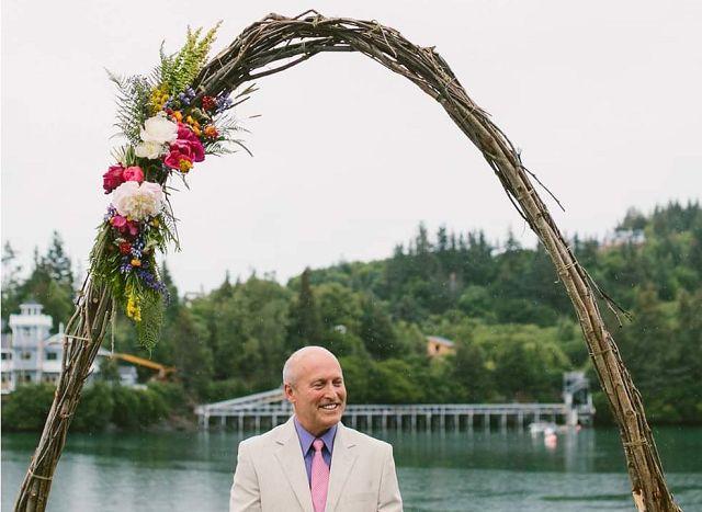 simple flower arch Auckland