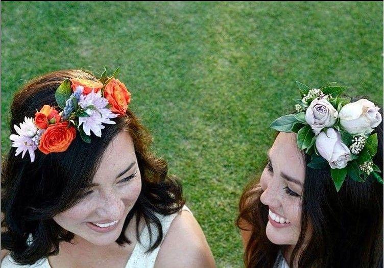 wedding flowers crowns NZ